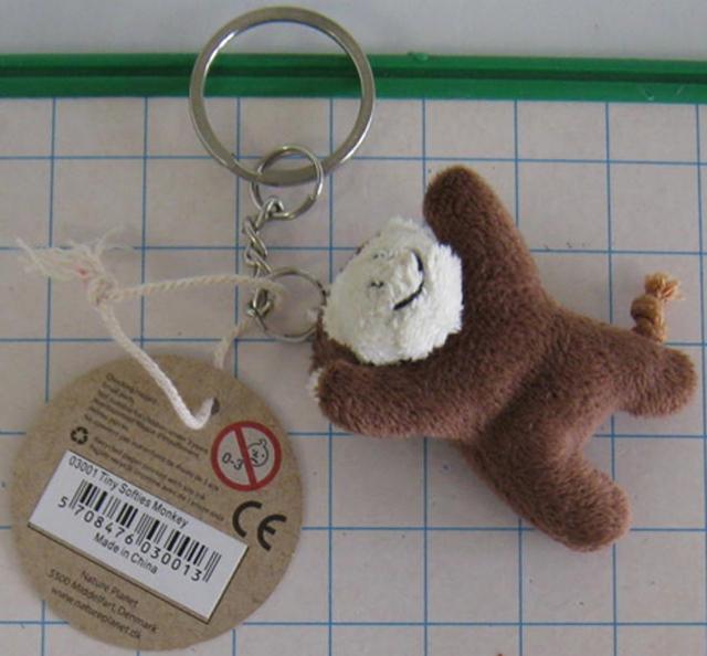Plyšový prívesok na kľúče - opica